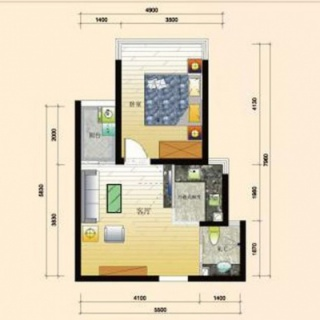 1号公寓标准户型图