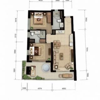 海景公寓A1/ A2户型图