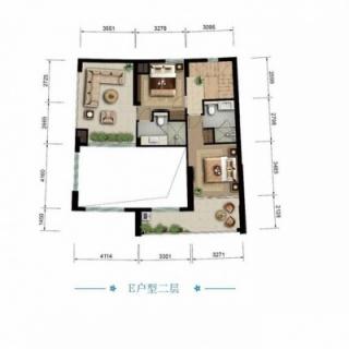 海景公寓E二层户型图