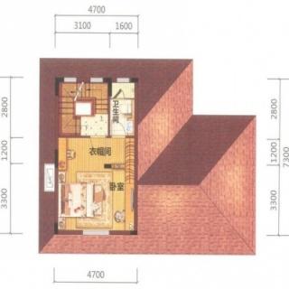 御墅A2-02户型3层