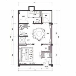 双拼地下二层户型图