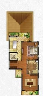 一期独栋别墅D3户型三层