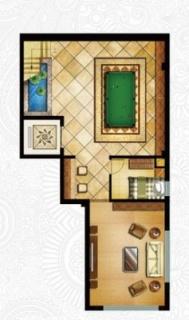 一期独栋别墅D3户型地下一层