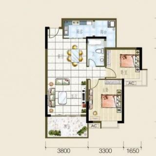 2/3号房户型图