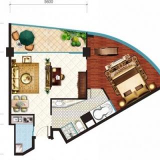 酒店公寓18层270度尊容景观套房
