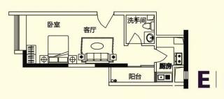 商务公寓标准层E户型