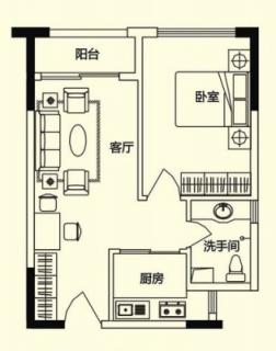 商务公寓标准层A户型