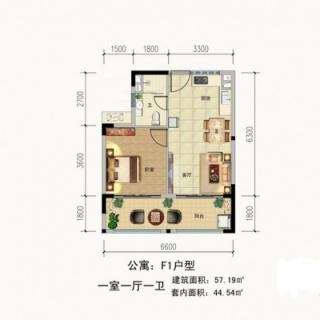 公寓F1户型