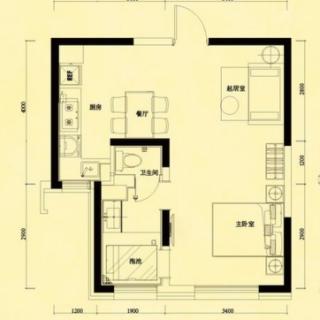 6-9号楼高层标准层D户型