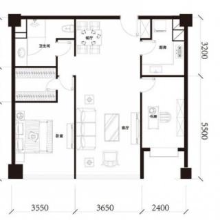 公寓标准层B1户型