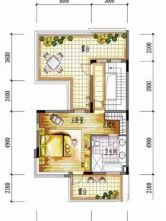 一期别墅D户型三层