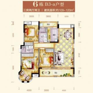 6栋B3-a户型图
