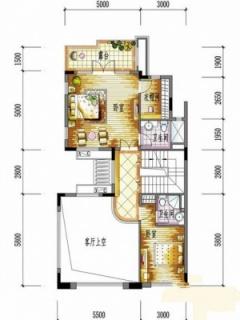 一期别墅C户型二层