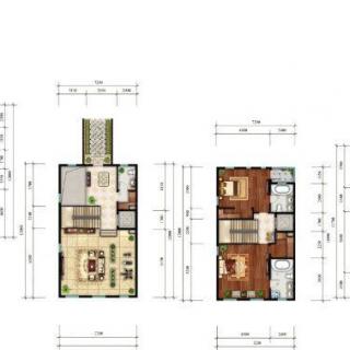 联排别墅C1户型图