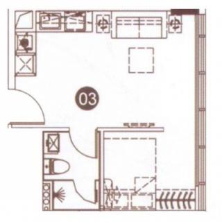 公寓03单元45㎡