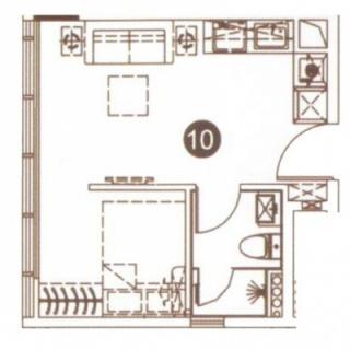 公寓10单元43㎡