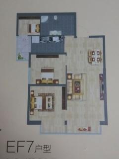 EF7户型图三室两厅86平