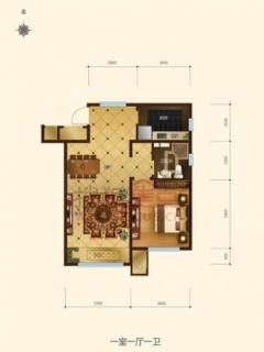 洋房10#和11#号楼标准层D4-a户型