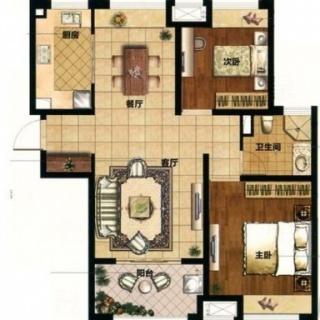 89平2房户型