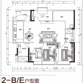 2-B/E户型图