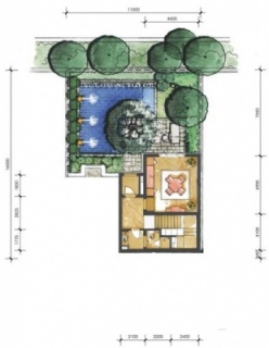 2A户型花园层平面图