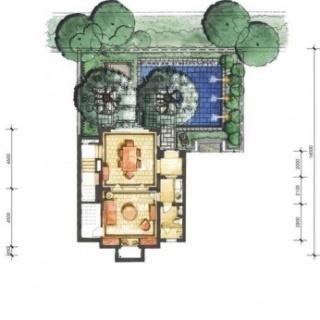4A户型花园层平面图