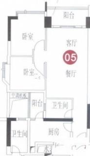 A7栋8-31层05单元户型