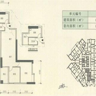 B1栋8-44层08户型两房两厅一卫