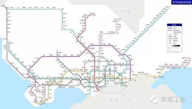 交通远期发展规划至2030年深圳市将建设16条共近600公里的地铁线路!