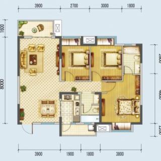 A1、A2号楼116平米户型