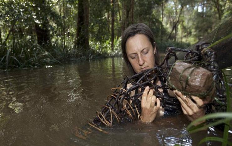 如今的她不仅可以在这里很好的生存,甚至可以能够将捕猎的动物充分利用。