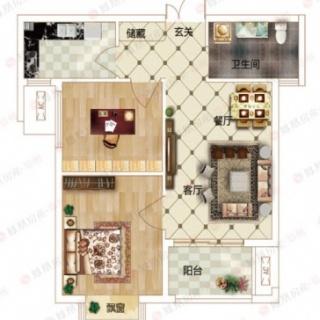2室2厅1卫A2户型