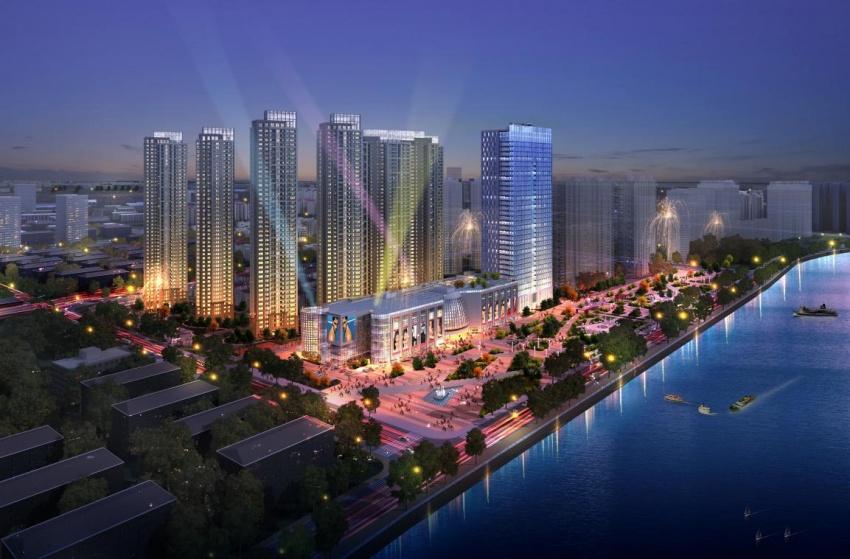 此次购买的深圳前海项目为世茂·前海中心,项目位于前海新区临海大道