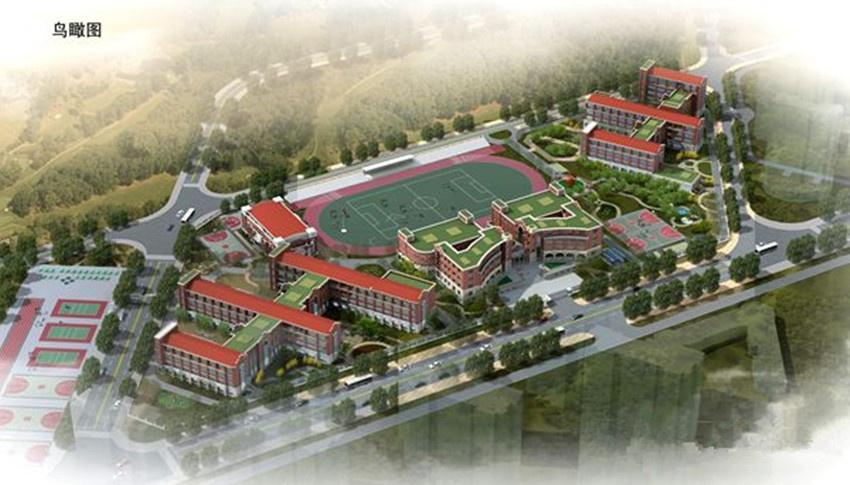 青岛最大九年一贯制学校主体封顶 明年投入使用