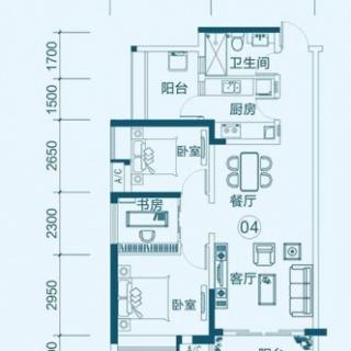 峰景组团04户型(三室)