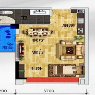 1期1座公寓B户型