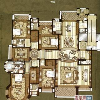上海星河湾a户型方案一 5室4厅5卫2厨 495.00㎡
