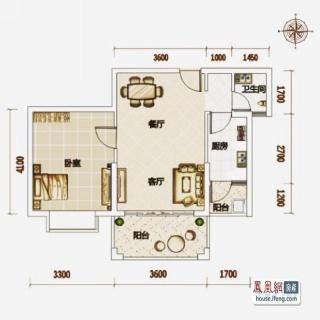 高层公寓7#-11#B户型