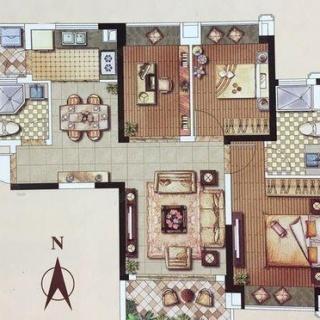 95平3室户型