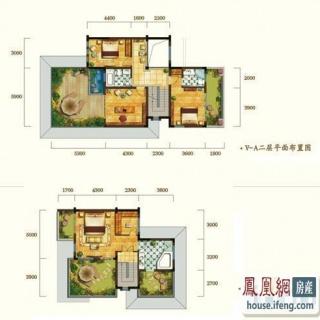 华新锦绣尚郡湖滨双墅v-a型二层和三层 5室4厅6卫1厨