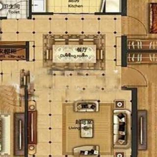 洋房标准层105平米A户型
