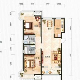 海通园14、15、16号楼高层标准层E1户型