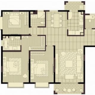 三房边套160平米