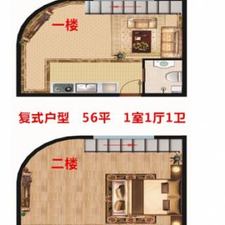 1、2号楼复式D户型