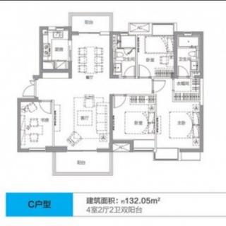 3、5号楼C户型