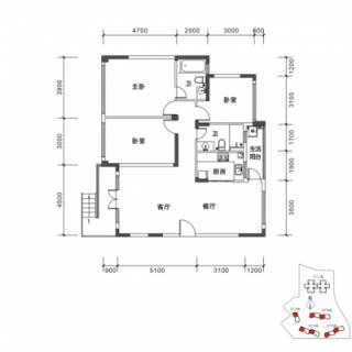 DT3-DT6栋A1户型图