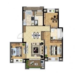 高层105平米3室2厅2卫