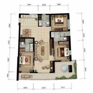 海景公寓D1/D2户型