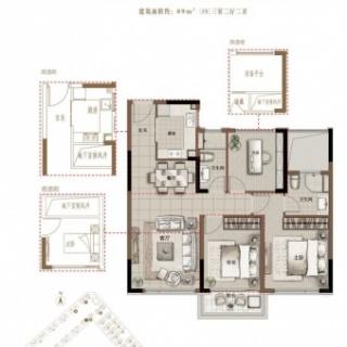 B1 89平米 三室两厅两卫
