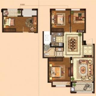 三室两厅一卫89平
